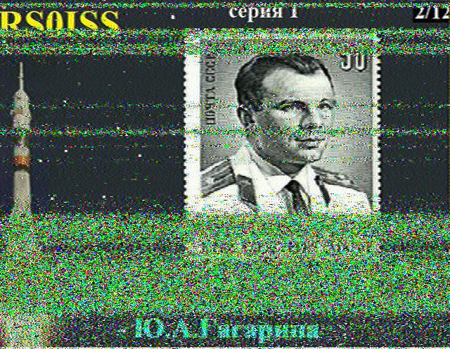 SSTV Transmissions from the International Space Station 2014-12-18 1901