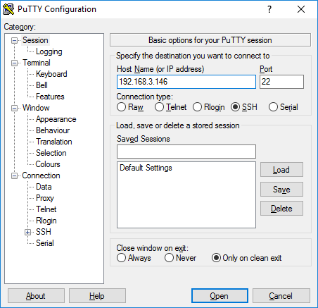 aprs_rx_rtl-sdr_pi_igate-04_ssh-02_putty_configuration