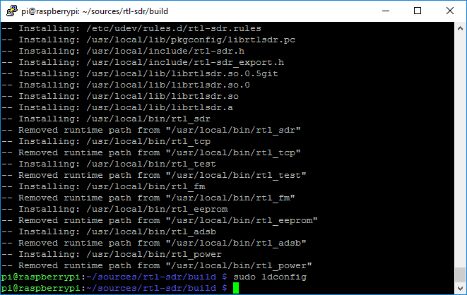 aprs_rx_rtl-sdr_pi_igate-07_compile_rtl-sdr-04_ldconfig