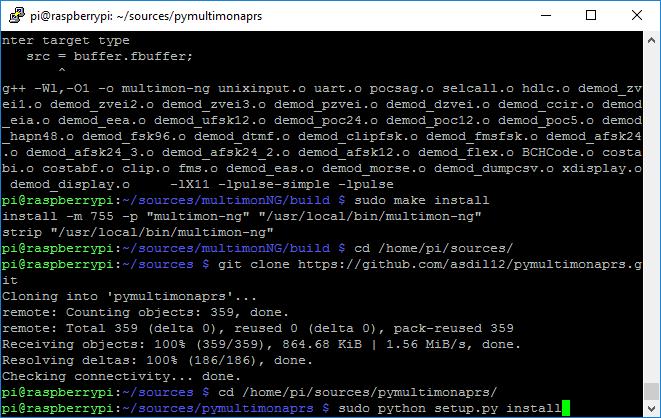 aprs_rx_rtl-sdr_pi_igate-09_install_pymultimonaprs-01_prep_git_python_install
