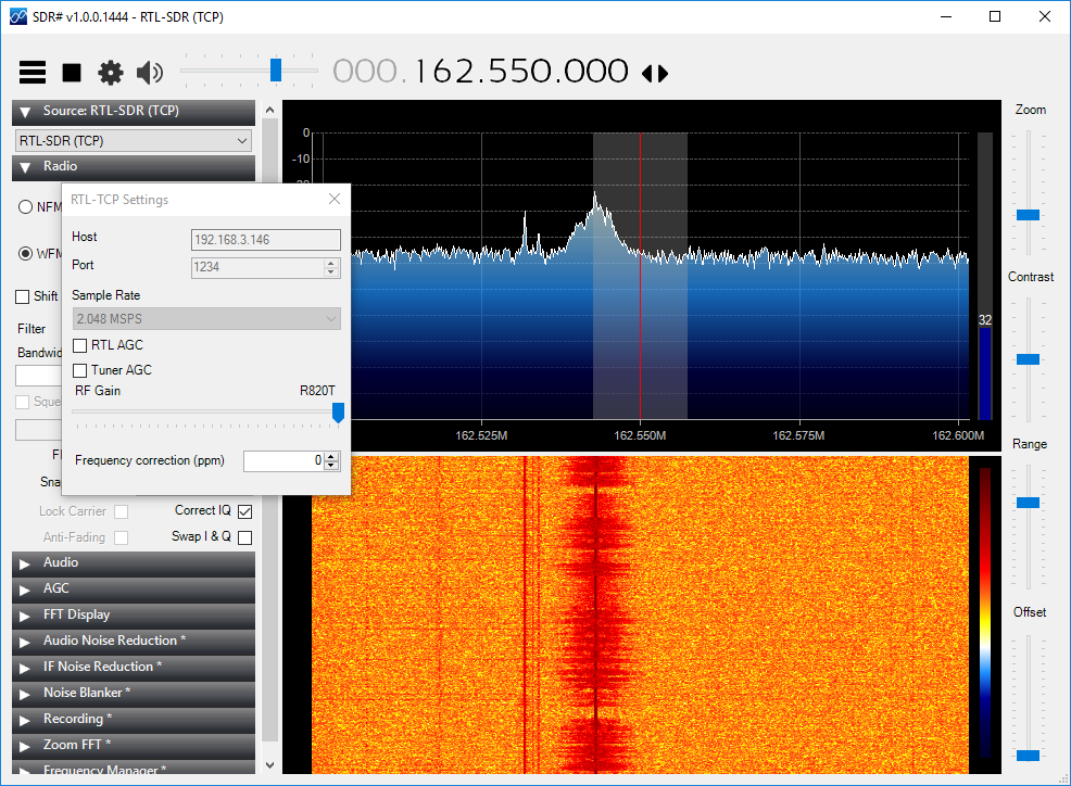 aprs_rx_rtl-sdr_pi_igate-10_testing_configuration-08_windows_sdrsharp_ppm_0